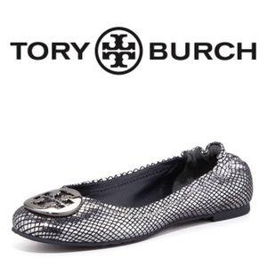 TORY BURCH Reva Metallic Ballerina Flat